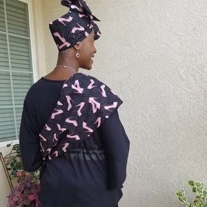 Tas (Crossbody Bag) with matching Gele (Head Wrap)